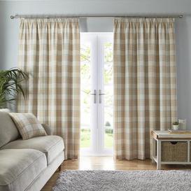 image-Fyfe Ochre Pencil Pleat Curtains Ochre