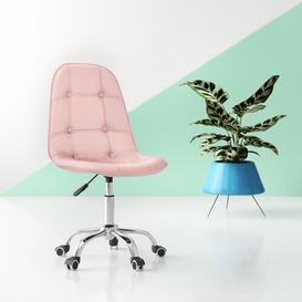 image-Zareen Desk Chair Hashtag Home Upholstery Colour: Pink