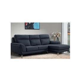 image-Vitalia Corner Right Handed Leather Sofa Bed In Indigo