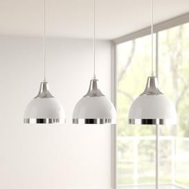image-Kaylynn 3 - Light Kitchen Island Dome Pendant Zipcode Design Shade Colour: White