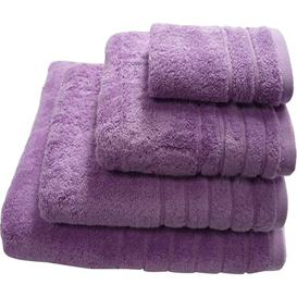 image-LinenHall Plain Dye Cotton Bath Towel Symple Stuff Colour: Heather