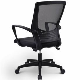 image-Height-Adjustable Mesh Computer Desk And Chair With Backrest, Red