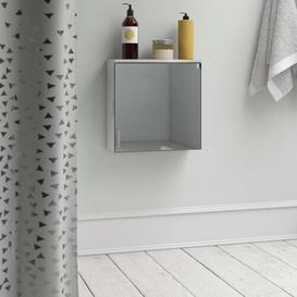 image-40 x 40cm Mirrored Wall Mounted Cabinet Belfry Bathroom