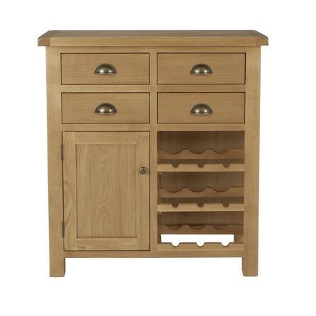 image-Sherbourne Oak Wine Cabinet Natural