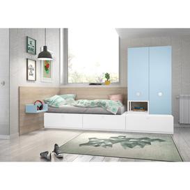 image-Stanley 3 Piece Bedroom Set Isabelle & Max Colour: White/Light Blue
