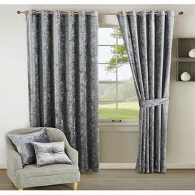 image-Santiago Room Darkening Thermal Curtains Textile Home Panel Size: 168 W x 183 D cm, Colour: Grey