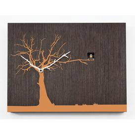 image-Myrtle Cuckoo Clock August Grove Finish: Dark Wood/Orange