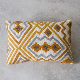 image-Hand embroidered cushion
