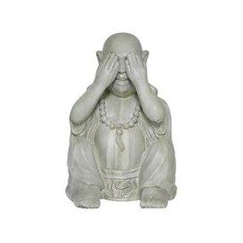 image-Buddha See No Evil Garden Ornament