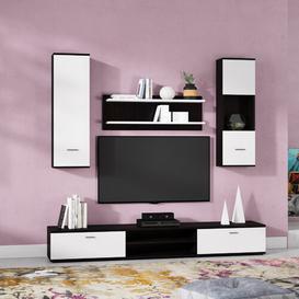 "image-Gagliardi Entertainment Unit for TVs up to 50\"" Brayden Studio Colour: White/Black"