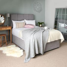 image-Silk Divan Bed Double 135cm x 190cm 4 Drawers