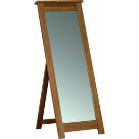 image-Rustic Oak Rectangular Cheval Mirror - 55cm x 142cm - Devonshire Furniture