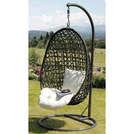 image-Cocoon Hanging Chair with Stand Suntime