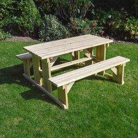 image-Tinwell Wooden Picnic Table