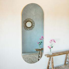 image-Alva Oval Oak Mirror