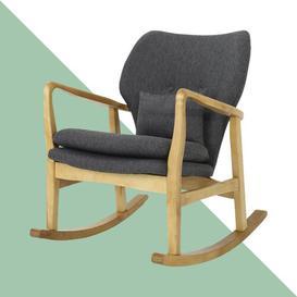 image-Chamberland Rocking Chair Hashtag Home Fabric: Walnut