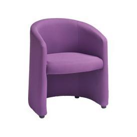 image-Premium Fabric Tub Chair, Purple