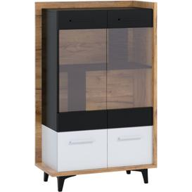 image-Syston Display Cabinet Ebern Designs Colour: Golden Craft