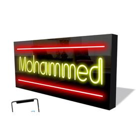 image-Smart LED Neon Sign Mohammed By Happy Larry