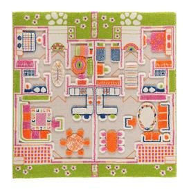 image-IVI World - Children's 3D Play Rug - Beach House - 100x100cm