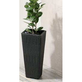 image-Rattan Self-Watering Planter Box Bay Isle Home Colour: Anthracite