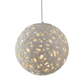image-Searchlight 3501-40WH Avalon One Light Ceiling Pendant Light In White Paper Rattan - Width: 400mm