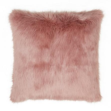 image-Fluffy Faux Fur Cushion Cover Blush
