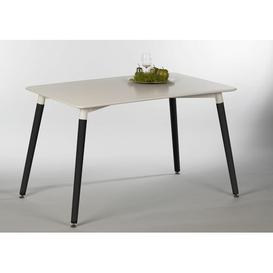 image-Kimberly Dining Table Norden Home Frame Colour: Black