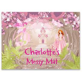 image-Personalised Enchanted Princess Messy Play Mat