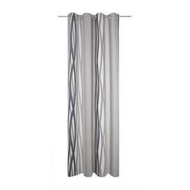 image-Brecken Eyelet Blackout Thermal Single Curtain Corrigan Studio Colour: Grey, Size: 150cm H x 145cm W
