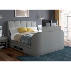 "image-""Seoul D Grey TV Bed 43"""" Smart TV (Sprung Slats) 4'6 Double"""