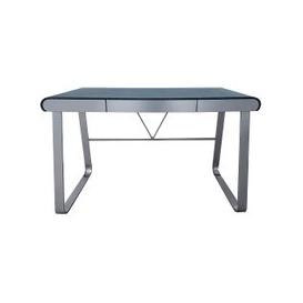 image-Waris Computer Desk In Stone Finish With Metal Legs