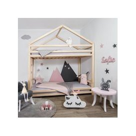 image-Benlemi Cloudy Bunk Bed - Natural