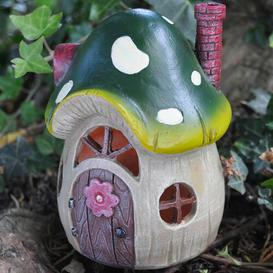 image-Mystical Mushroom Fairy Garden Toadstool House with LED Light Decoration Sol 72 Outdoor