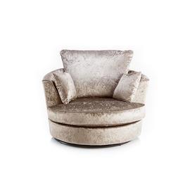 image-Kilpatrick Swivel Tub Chair Rosdorf Park Upholstery Colour: Mink