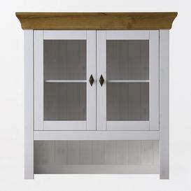 image-Hojanovice Display Cabinet August Grove Colour: White/Leach-coloured
