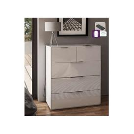image-Nexus Wooden Wide Chest Of Drawers In White High Gloss