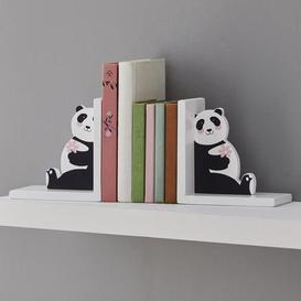image-Panda Bookends Black and White