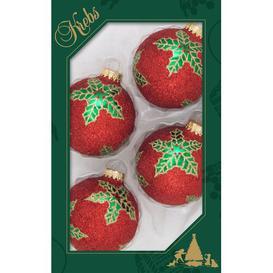 image-Star of Bethlehem 4 Piece Christmas Bauble Set Krebs Glas Lauscha