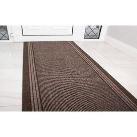 image-Pacjo Hard Wearing Rubber Doormat Mercury Row Mat Size: Rectangle 67 x 121.92cm, Colour: Brown
