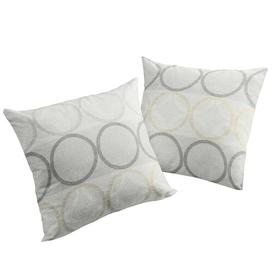 image-Deguzman Cushion Cover Brayden Studio Colour: Grey/Orange, Size: 40 x 40cm