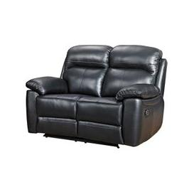 image-Astona Leather 2 Seater Recliner Sofa In Black