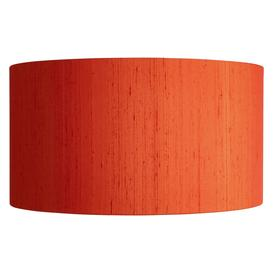 image-Drum Silk Orange Silk Lampshade Dia. 49Cm, Orange