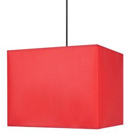 image-Abj.Carré 40cm Cotton Square Pendant Shade Ebern Designs Colour: Red