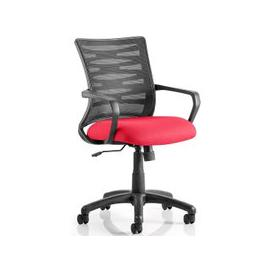 image-Eclipse Home Office Chair In Cherry With Castors