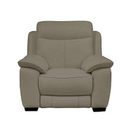 image-Starlight Express Leather Manual Recliner Armchair - Grey- World of Leather