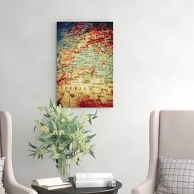 image-Globe World Map Photographic Print on Canvas Big Box Art Size: 76cm H x 50cm W