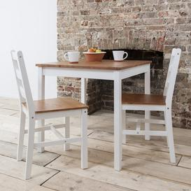 image-Annika Bistro Table in Grey and Natural Pine Wood Finish: Silk Grey