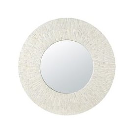 image-Round Mirror in Pieces of Mother of Pearl D90