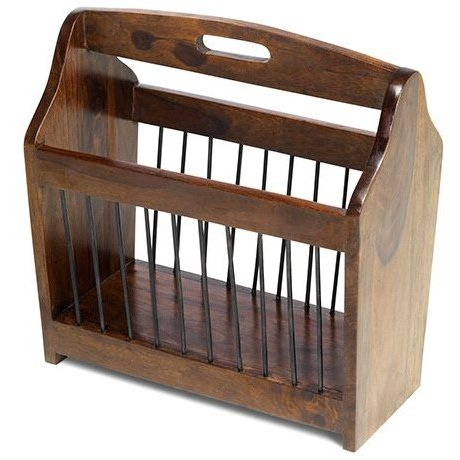 image-Mumbai Sheesham Indian Furniture Magazine Rack